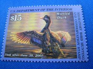 UNITED STATES 2000 DUCK STAMP - Scott #RW67    MNH