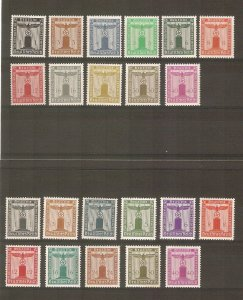 Germany 1938-42 NSDAP Franchise stamps cpl. MNH