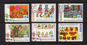 Mozambique #631-636 1979 Children's Paintings International Youth Day CTO Used