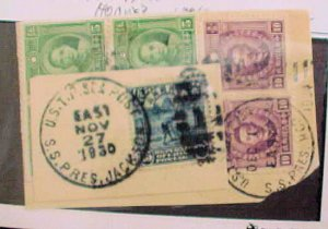CHINA STAMPS STEAMSHIP PRESIDENT JACKSON 1930 HOOVER 1934