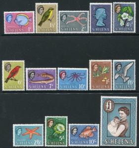 ST HELENA-1961-65 Set to £1. Top value unmounted Sg 176-189 MOUNTED MINT V19990