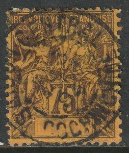 Indochina 1892 Sc 19 used nice CDS