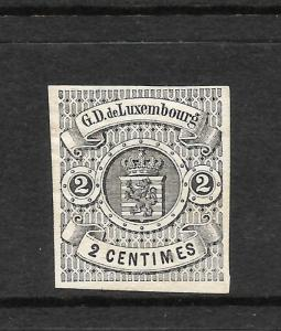 LUXEMBOURG  1859-63  2c BLACK IMPERF  MH  SG 7