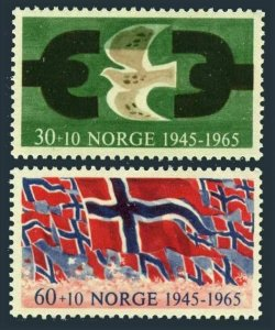 Norway B66-B67,MNH.Michel 528-529. Liberation from the Germans,20th Ann.1965.