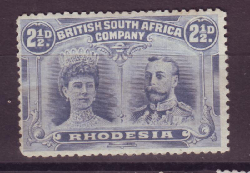 J17093 JLstamps 1910 rhodesia mh #104c king and queen $77.50 scv see details