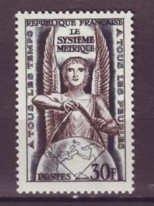 J15196 JLstamps 1954 france set of 1 mh #732 allegory