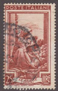 Italy 558 Used 1950 Sorting Oranges