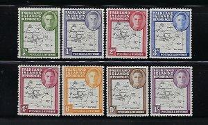 FALKLAND IS. DEPENDENCIES- SCOTT# 1L1-1L8 1946 FIRST SET MINT XXXLIGHT HINGED