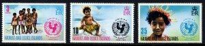 GILBERT & ELLICE ISLANDS QE II 1971 Unicef Anniversary Set SG 193 to SG 195 MNH