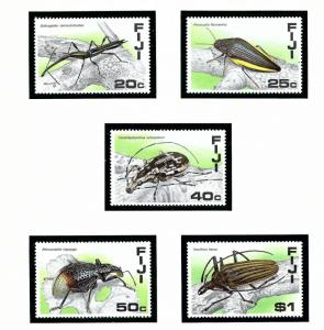 Fiji 574-78 MNH 1988 Insects