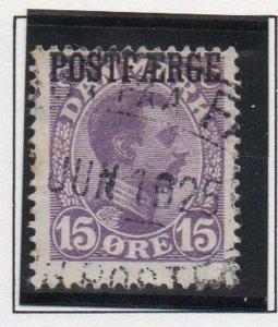 Denmark Sc Q4 1919 15 ore violet Christian X  Postfaerge stamp used