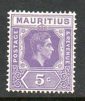 Mauritius #214a perf 15x14 Unused Hinged cv$50 D749