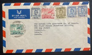 1953 Mosul Iraq Airmail cover to Life Assurance Co Toronto Canada
