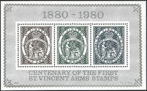 St. Vincent #598 MNH Miniature Sheet of 3