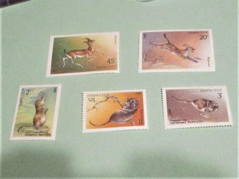 Russia - 5388-92, MNH Set. Endangered Wildlife. SCV - $2.75