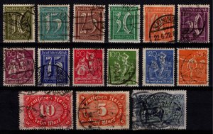 Germany 1921 Weimar Rep. Definitive Part Set (excl. 5pf, 160pf) [Used]