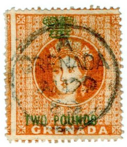 (I.B) Grenada Revenue : Duty Stamp £2 (Jeffryes Printing)