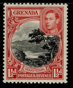 GRENADA GVI SG155a, 1½d black and scarlet, M MINT.