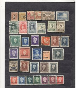 NETHERLANDS INDIES COLLECTION  ON STOCK SHEET, MINT/USED