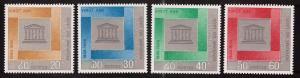 LAOS Scott 133-136 MNH**  Unesco set nice border colors