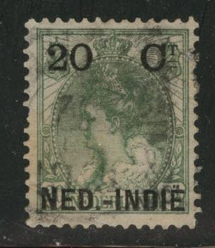Netherlands Indies  Scott 34 used 1900 Surcharged