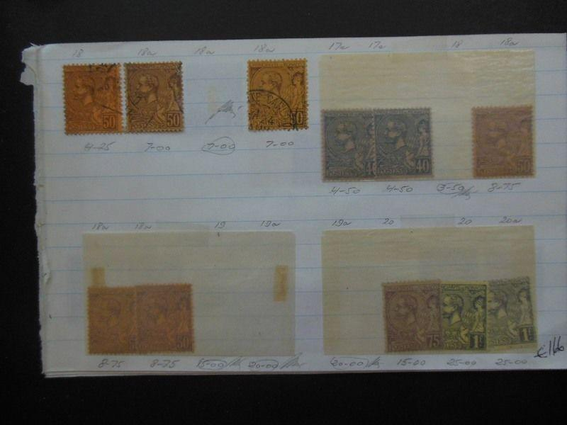 MONACO : Very nice Mint & Used collection old time approval pages. Cat €2,465.00