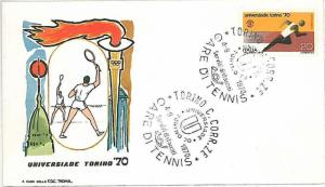 SPORT: TENNIS - POSTAL HISTORY - ITALY: COVER W\ special POSTMARK 1970