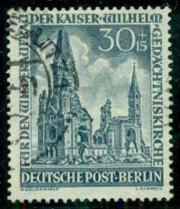 GERMANY BERLIN #9NB11 30 + 15pf deep blue, high value of set, used, VF