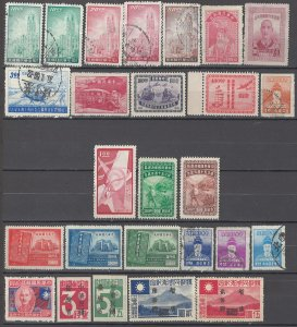 COLLECTION LOT OF # 1609 CHINA 26 STAMPS 1945+