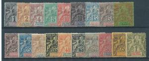 Anjouan 1-19 1892-1907 Navigation & Commerece set 13 MNG ...