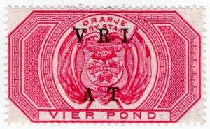 (I.B) Orange River Colony Army Telegraphs : £4 Rose-Red