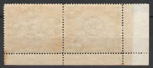 PAPUA 1907 LAKATOI OVERPRINTED SMALL PAPUA 1/2D PAIR HORIZ WMK