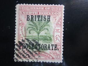 North Borneo #107 used