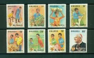 Rwanda #1150-57  (1983 Young Catholics set) VFMNH CV $6.20
