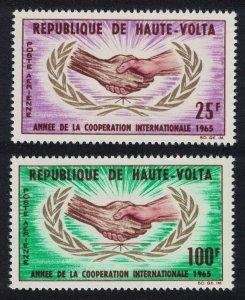 Upper Volta Intl Co-operation Year 2v 1965 MNH SG#162-163
