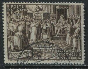 Vatican 100 lire stamp used