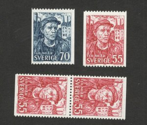 SWEDEN-2 MNH STAMPS+ PAIR-1969.