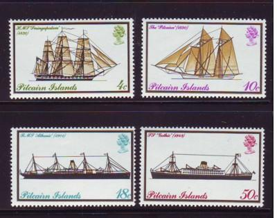 Pitcairn Islands Sc 147-0 1975 mail boats mint stamps NH