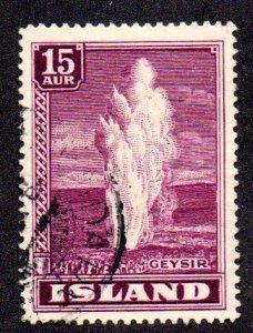 ICELAND 203 USED SCV $12.00 BIN $4.80 GEYSER