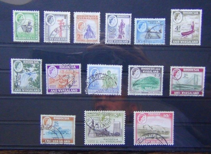 Rhodesia & Nyasaland 1959 - 1962 to 10s Fine Used