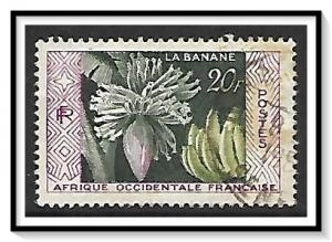 French West Africa #78 Bananas Used