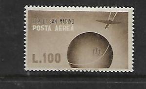 SAN MARINO, C51, MINT HINGED  PLANE OVER GLOBE