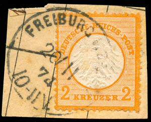 momen: Germany Stamps #8 Used on Piece VF