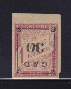 Guadeloupe Scott # J14a F-VF OG mint hinged with nice color scv $ 1150 see pic !
