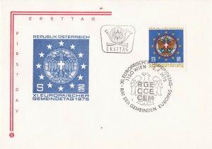 AUS112) Austria 1975 11th European Convention Of District Councils