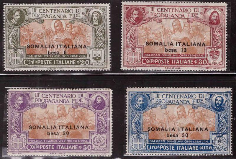 Italian Somalia Scott  51-54 Propagation of Faith Complete MH* set  CV $38