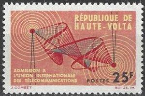 Upper Volta  129   MNH  ITU Membership