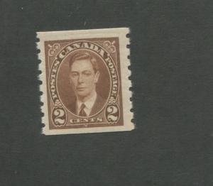 Prince George VI 1937 Canada Brown Stamp #239 Scott Value $8