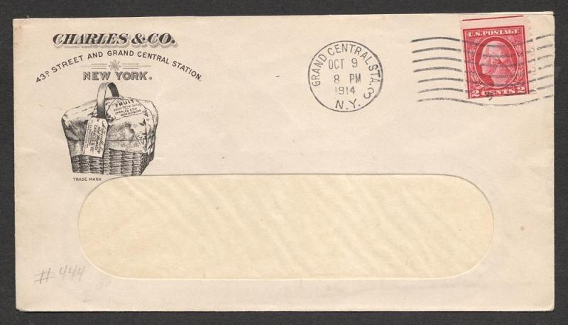 US#444 Carmine - On Grocers Cover Card