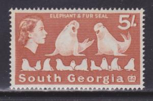 South Georgia 14 VF-mint lightly hinged nice color scv $ 23 ! see pic !